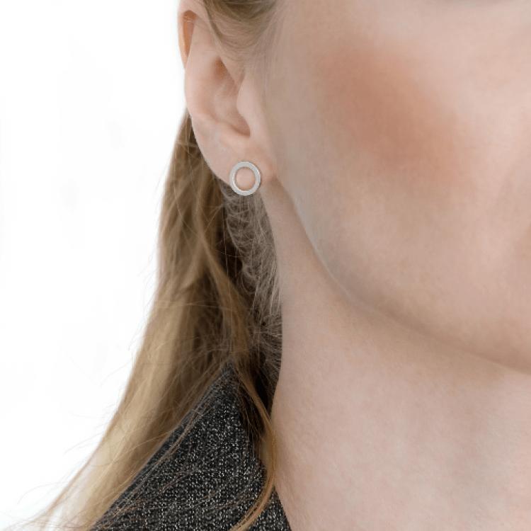 """Срібні сережки """"Коло"""", 7 мм - image-1"""