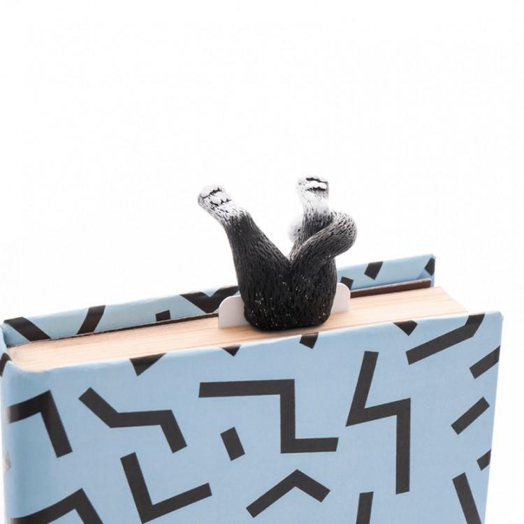 """Книжкова закладка """"Чорно-білий кіт"""" - image-1"""