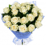 25 білих троянд - image-0