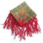 Хустка червона з орнаментом UH-1025 - image-0