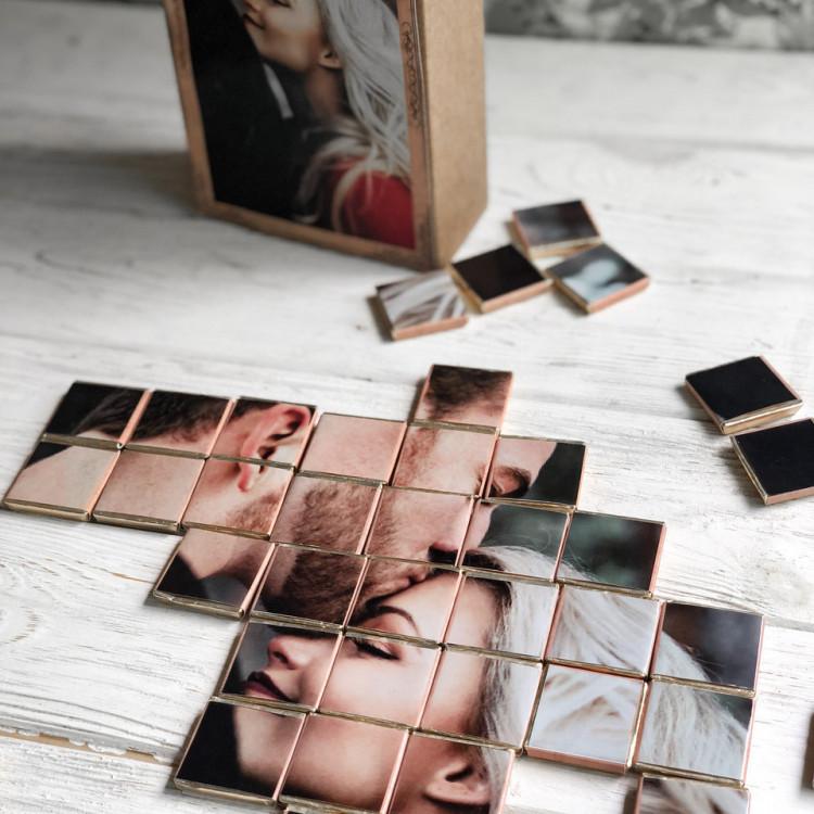 "Шоколадний пазл з фото ""Крафт пазл 63 шоколадки"" - image-1"