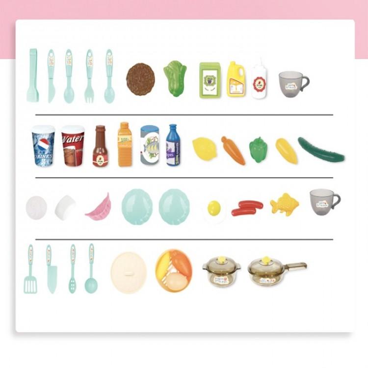 Дитяча інтерактивна кухня Bozhi Toys Fun Cooking 838B рожева - image-0