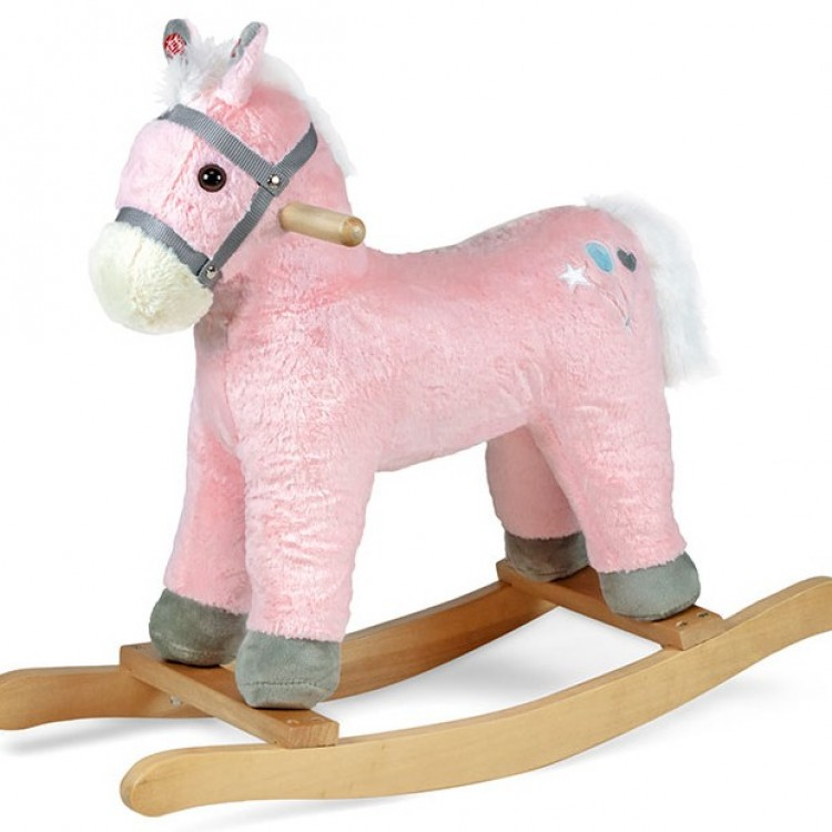 Дитяча гойдалка Конячка Sapphire SK-30 рожева - image-5