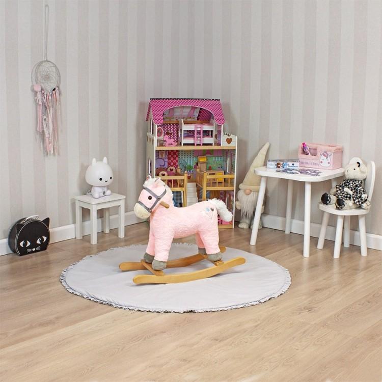 Дитяча гойдалка Конячка Sapphire SK-30 рожева - image-1