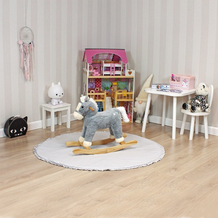 Дитяча гойдалка Конячка Sapphire SK-30 рожева - image-0