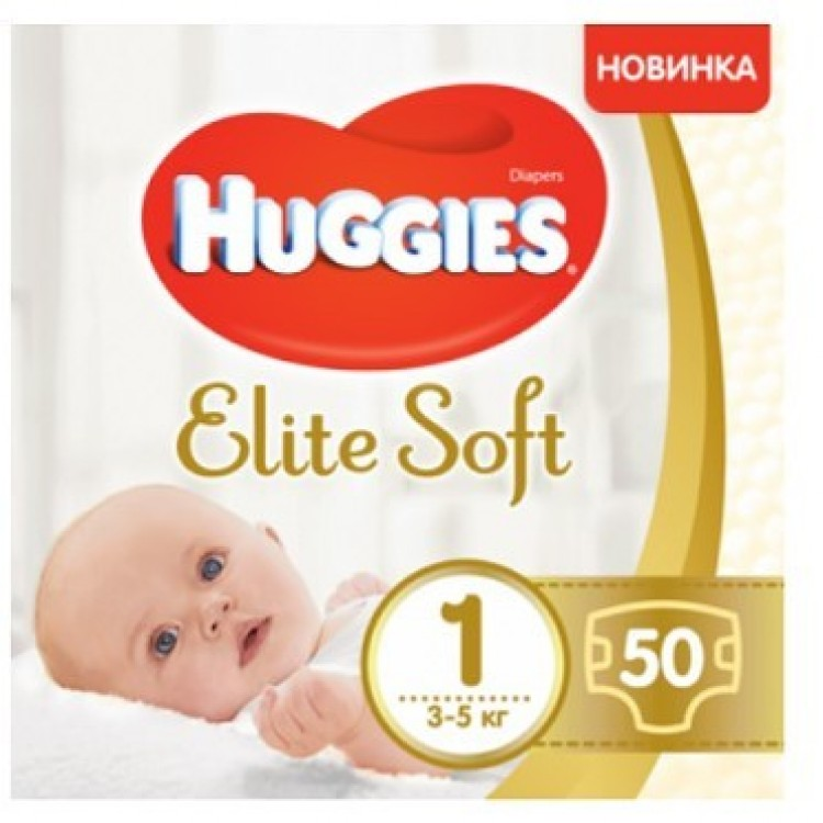 Підгузники Huggies Elite Soft Newborn-1 (3-5 кг) 50 шт - image-0