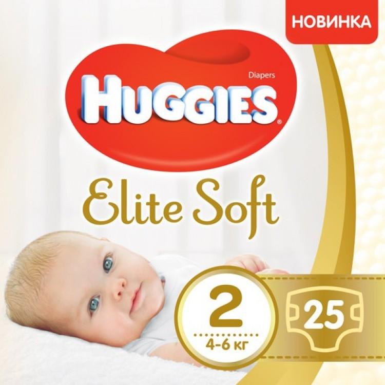 Підгузники Huggies Elite Soft Newborn-2 (4-6 кг) 25 шт - image-0
