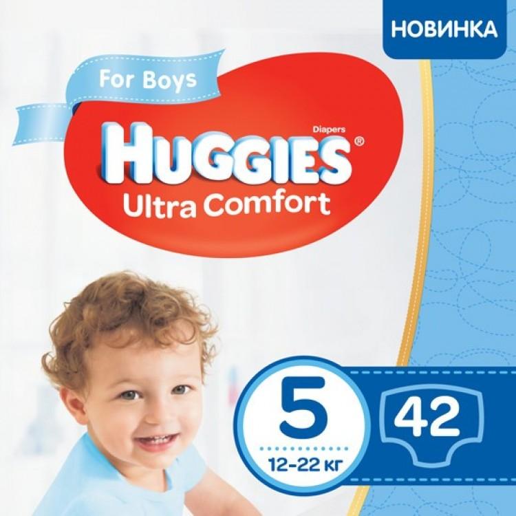 Підгузки Huggies Ultra Comfort Jumbo р.5 (12-22 кг) для хлопчиків 42 шт - image-0