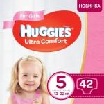 Підгузки Huggies Ultra Comfort Jumbo р.5 (12-22 кг) для дівчаток 42 шт - image-0