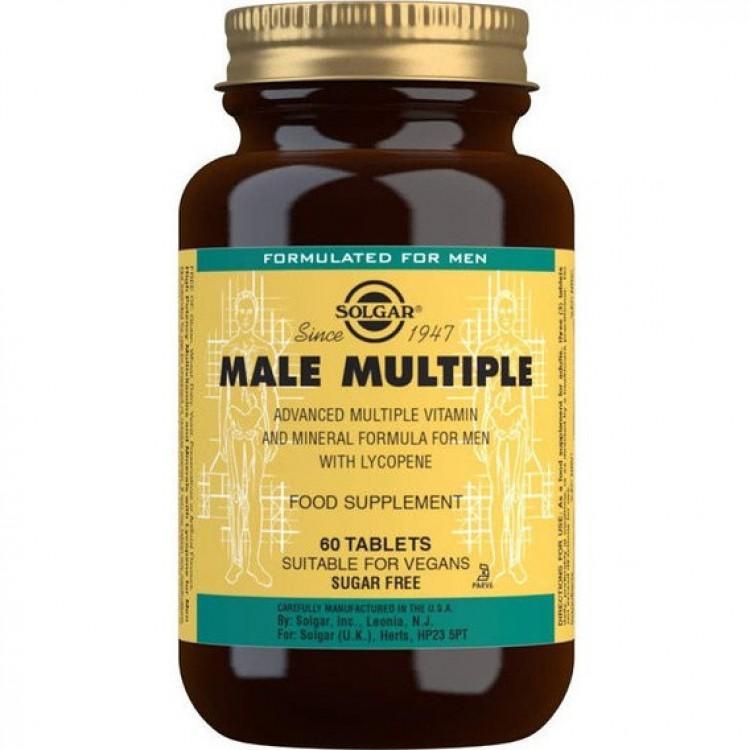 Вітаміни для чоловіків Солгар Male Multiple,  60 таблеток - image-0