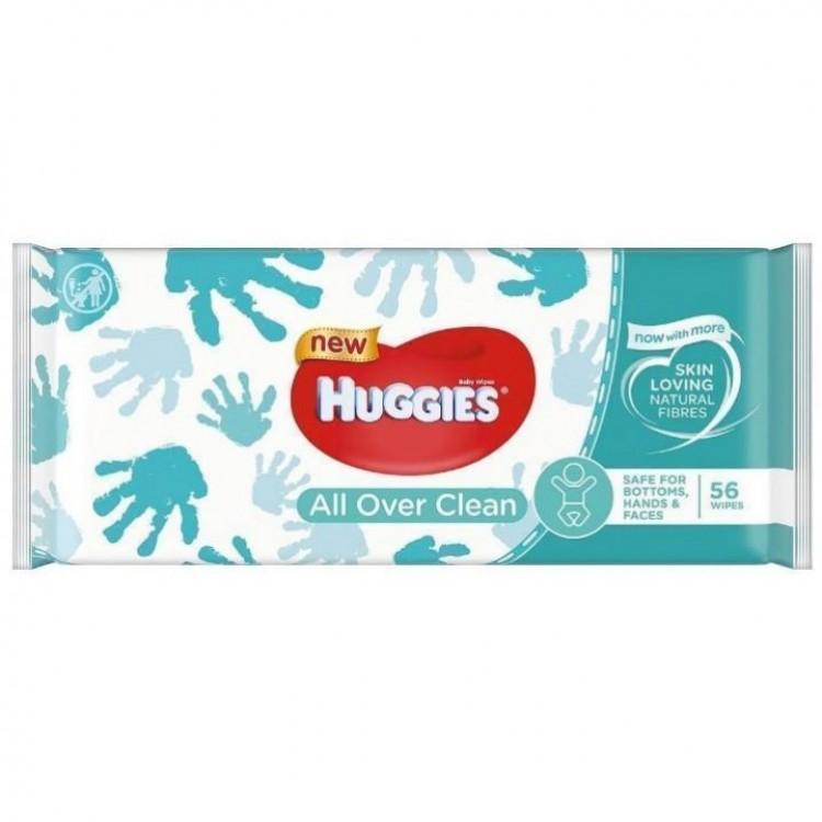 Серветки вологі Huggies All Over Clean, 56 шт - image-0