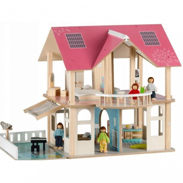 Великий ляльковий будиночок Ecotoys 4103 Dreams + 4 ляльки - image-1