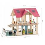Великий ляльковий будиночок Ecotoys 4103 Dreams + 4 ляльки - image-0