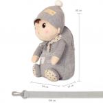 Рюкзак Лялька Сластьон, сірий Metoys - image-4