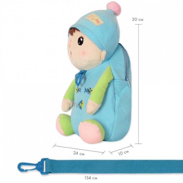 Рюкзак Лялька, блакитний Metoys - image-3