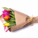 Букет 15 різнокольорових тюльпанів - image-0