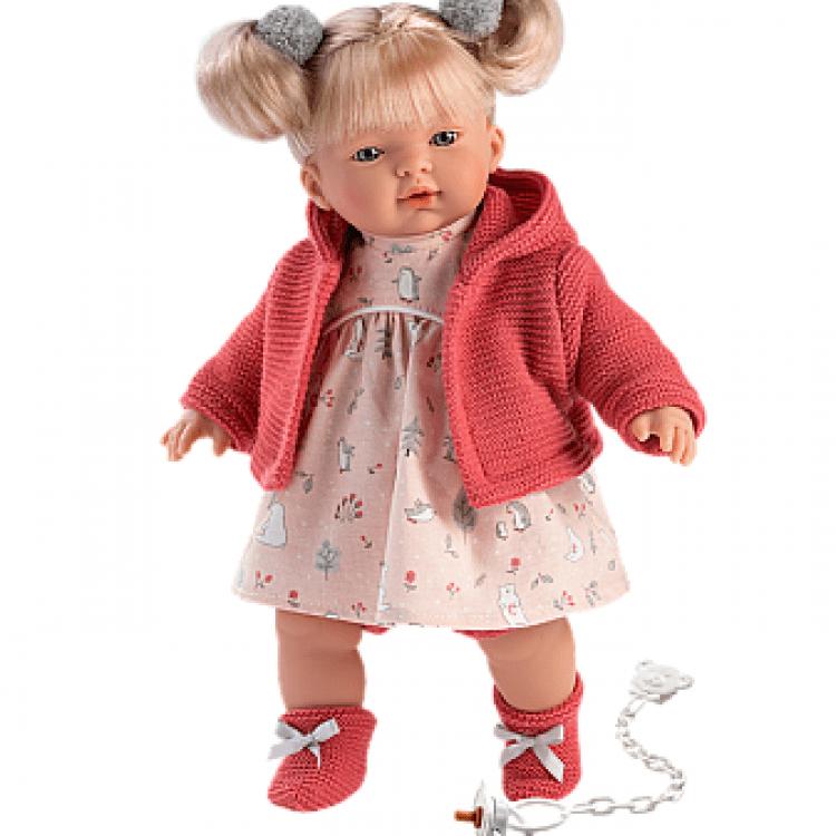 """Інтерактивна плачуча лялька """"Айтана"""" в кораловому - image-0"""