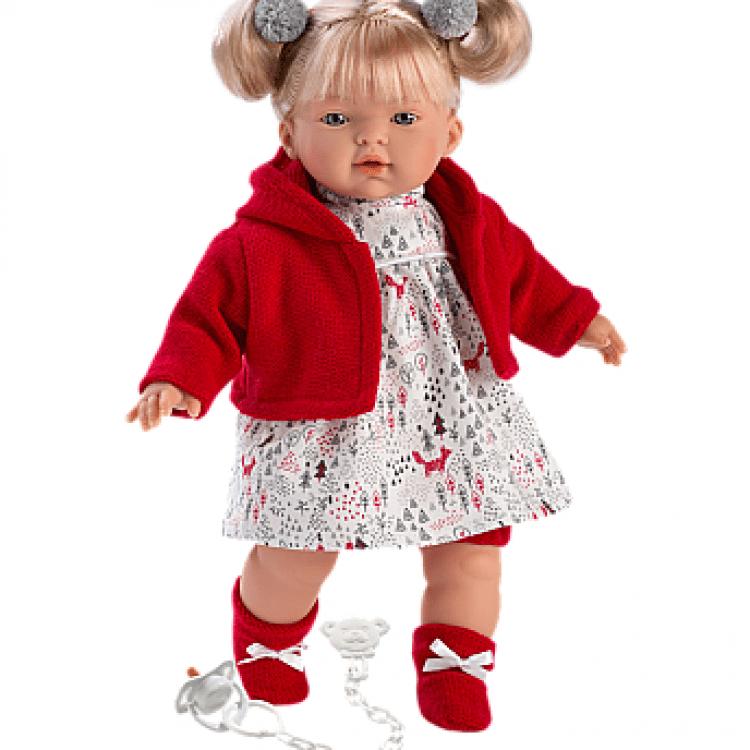 """Інтерактивна плачуча лялька """"Айтана"""" в червоному - image-0"""